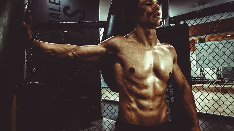 man with abs